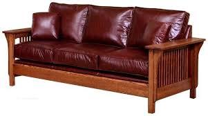 arts u0026 crafts mission style upholstered back spindle sofa