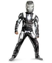 Iron Man Halloween Costume Iron Man 2 War Machine Muscle Ironman Movie Costume Kids Costume