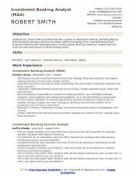 Mergers And Inquisitions Resume Template Investment Banking Analyst Resume Sles Qwikresume