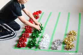 christmas math activity graphing with gift bows and next comes l
