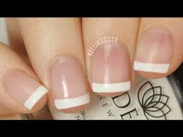 diy easy classic french manicure tutorial no tools required