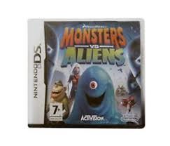 monsters aliens nintendo ds boxed manual vgc fast