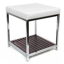 vanity bench stool satin nickel bedroom bathroom cushion