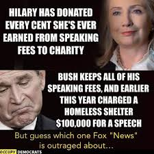 Donation Meme - liberal group claims all of hillary clinton s speaking fees went