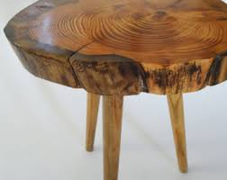 Trunk Bedside Table by Tree Stump Table Etsy