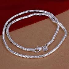 silver chain necklace snake images Fashion 925 sterling solid silver snake chain necklace 20 inch jpg