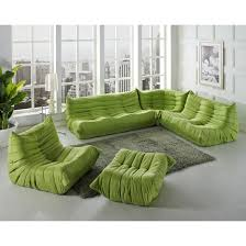 5 pc waverunner green sectional sofa set east end imports eei 558 grn