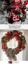 diy burlap wreath fall arrangement experimental homesteader