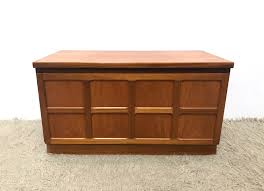 70s retro vintage small nathan teak cabinet media unit tv