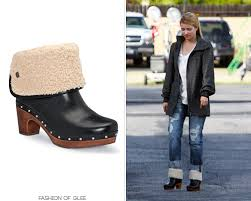 womens ugg lynnea boots dianna agron arrives on the set of glee los angeles october 27
