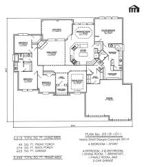 building plan for a four bedroomed house house plans