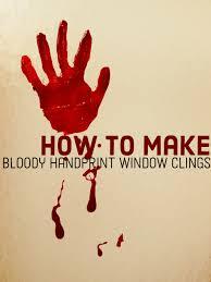 crime scene halloween decorations do it yourself bloody handprint window clings feltmagnet