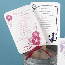 wedding program fan wording invitations by launches new destination products