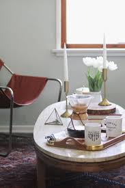 cozy coffee table styling with glade anne sage