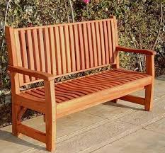 Wooden Benchs Wood Bench With Wave Design Seat Slats Forever Redwood