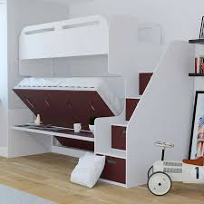 Bunk Bed With Stairs And Desk Jessie Twin Over Full Landscape Bunk Bed With Stair Storage U0026 Desk