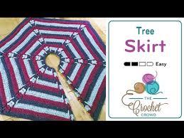 how to crochet a christmas tree skirt youtube