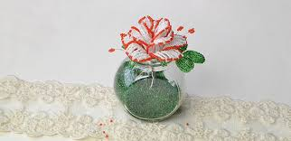 Home Decor Vase Home Décor Ideas On How To Make Simple Seed Beads Flower Vase