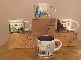 gifts from mickey starbucks u0026 disney you are here mug set