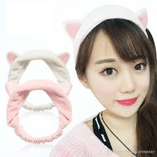 headband styler woman cat ears headband soft cotton handmade headwrap