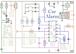 car alarm circuit wiring diagram car wiring diagrams collection