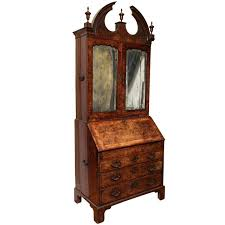fine burr walnut george i bureau bookcase for sale at 1stdibs