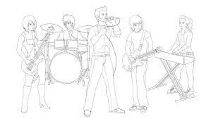 oc rock band sketch by wakamoley on deviantart