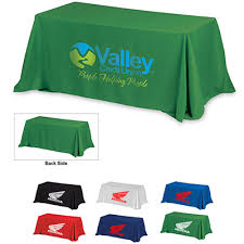 8 ft table cloth with logo promotional table covers and runners promo direct
