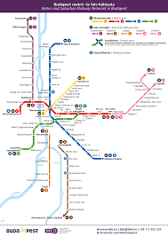 Metro Line Map by Official Map Budapest Metro And Suburban Rail Transit Maps