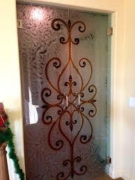 bathroom ravishing etched glass door designs design add images