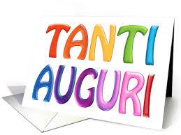 tanti auguri italian happy birthday fun 3d like colourful card