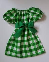 Christmas Dress  Peasant Dress  Green Checks  Toddler Christmas
