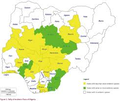 Map Of Nigeria Africa by A Systematic Compilation Of Endemic Flora In Nigeria For