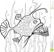 anglerfish coloring page stock vector image 41314177