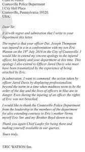 father of man who injured coatesville officer pens letter of