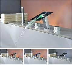 Led Bathroom Faucets Waterfall Bathroom Faucet