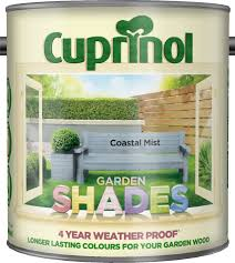 cuprinol garden shades paint coastal mist 2 5l garden shade and