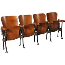 Vintage Metal And Wood Cafe Chair Vintage Original Wood And Steel Folding Theater Seats Seating