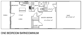 1 bedroom floor plan 30 barndominium floor plans for different purpose
