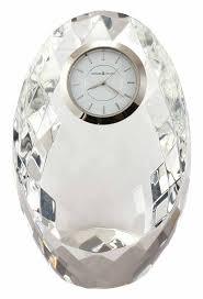 detailed image of the howard miller rhapsody 645 732 crystal desk clock