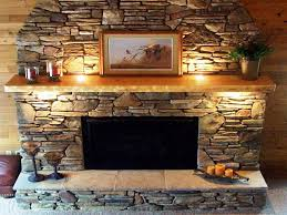 faux stacked stone panels fireplaces home fireplaces firepits