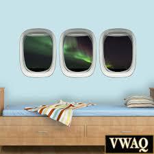 Aviation Home Decor Northern Lights Airplane Window Decals Aviation Wall Art Airplane