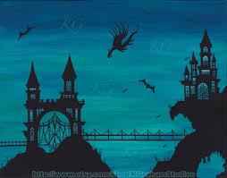 castle dragon fine art print ornate gothic castle u0026 draw bridge