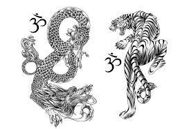 45 and tiger tattoos designs with meanings