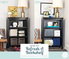 how to style a bookcase refresh style a bookshelf interior styling book shelves and