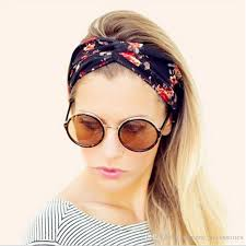 decorative headbands new hot women knitted knot headbands hairband with floral pattern