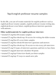 resume format for assistant professor job top8englishprofessorresumesamples 150527131039 lva1 app6891 thumbnail 4 jpg cb 1432732285
