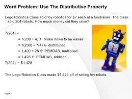 chapter 2 section 2 distributive property