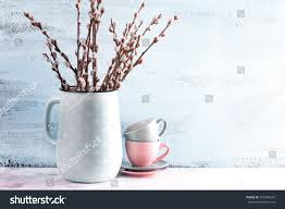 home decor soft flowering willow stock photo 592308647