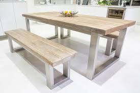 reclaimed wood and metal rustic dining table u2013 eat sleep live
